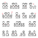 Family drawing set Royalty Free Stock Image