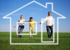 Family. dream house Stock Photos