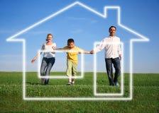 Family. dream house Stock Photos