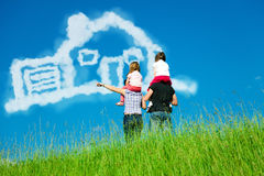 Free Family Dreaming Of Their Own Home Stock Image - 87385401