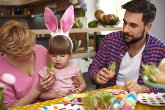 Family before Easter Royalty Free Stock Image