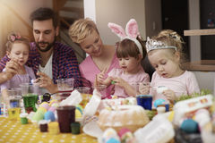 Family before Easter Stock Photos