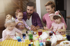 Family before Easter Royalty Free Stock Photography