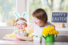 Family easter time Royalty Free Stock Photography
