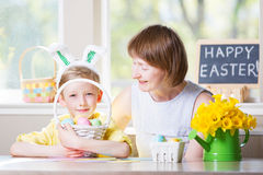 Family easter time Stock Image