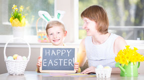 Family at easter Stock Photos