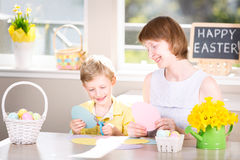 Family at easter Royalty Free Stock Photography