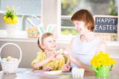 Family at easter Royalty Free Stock Photo