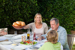 Family eating Royalty Free Stock Images
