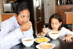 Family Eating Breakfast Stock Photography