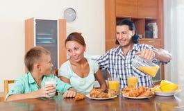 Family eating breakfast Stock Photos