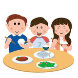 Family, eating Stock Photos
