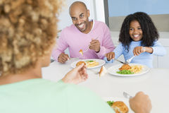 Family Eating A meal,mealtime Together Stock Photography