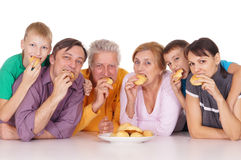 Family eating portrait Royalty Free Stock Images