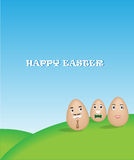 Family egg with nature background Stock Image