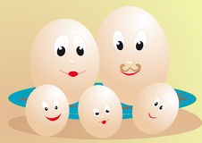 Family eggs Stock Photos