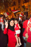 Family Egyptian revolution Stock Images