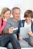 Family and electronic tablet Stock Photo