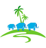 Family elephants logo Stock Photography