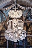 Family emblem from the bones. Family emblem of Schwarzenberg from the bones in Sedlec Ossuary, Czech Republic Royalty Free Stock Photo