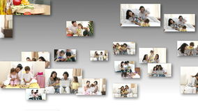 Family Engaged in fun Activities Royalty Free Stock Photography