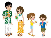 Family enjoy Summer sweets Stock Image
