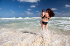 Family enjoy summer vacation in Mexico. Royalty Free Stock Image