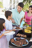 Family Enjoying A Barbeque Royalty Free Stock Photos