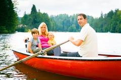Family Enjoying A Boat Trip royalty free stock photography