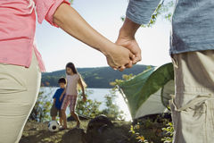 Family Enjoying a Camping Trip stock photo