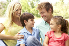 Family Enjoying Day In Park Royalty Free Stock Photo