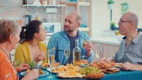 Family enjoying the dinner