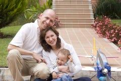 Family enjoying at home Stock Photos