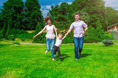 Family - enjoying the life together Stock Images