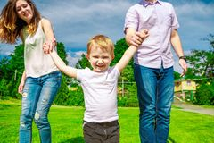 Family - enjoying the life together Royalty Free Stock Images