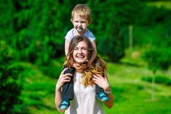 Family - enjoying the life together Royalty Free Stock Photos