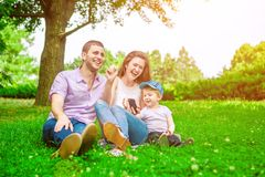 Family - enjoying the life together Royalty Free Stock Photography