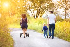 Family enjoying life together outside Royalty Free Stock Images