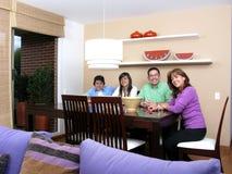 Family enjoying mealtime Royalty Free Stock Image