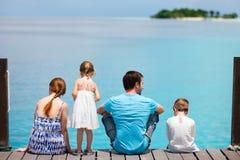 Family enjoying ocean view Stock Image