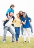 Family enjoying at park Stock Photo