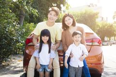 family enjoying road trip and summer vacation Royalty Free Stock Photography