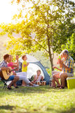Family enjoying on summer day Stock Photo