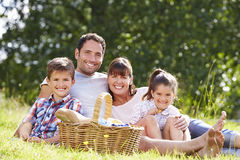 Family Enjoying Summer Picnic In Countryside Stock Images