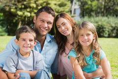 Family enjoying the sun stock image