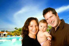 Family enjoying a sunny holiday Stock Photo