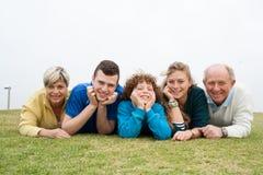 Family enjoying their holidays Royalty Free Stock Photos