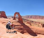 Family enjoying time on hiking trip. Royalty Free Stock Photos