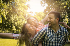 Free Family Enjoying Together In Summer Day. Family In Nature. Royalty Free Stock Image - 97600286