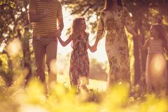 Family enjoying together in the park. royalty free stock photos